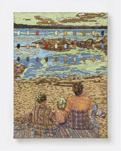 Peter Mohall, 'På stranden i kloppsan', 2021