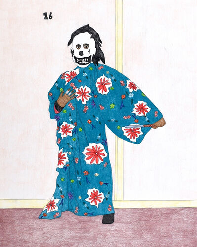 Kudluajuk Ashoona, 'Untitled (Figure in Kimono)', 2019
