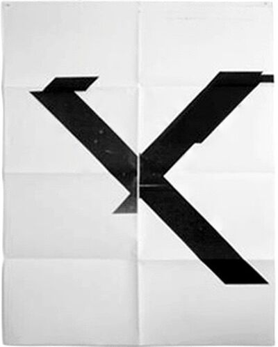 Wade Guyton, 'X Poster (Untitled 2007)', 2016