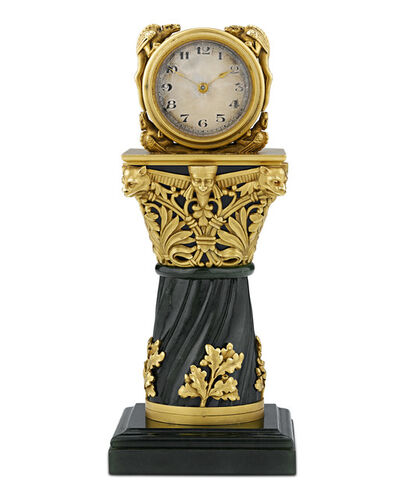 Paul Frey, 'PAUL FREY MINIATURE GOLD AND JADE CLOCK', 19th Century