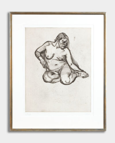 Lucian Freud, 'Girl Holding Foot', 1985