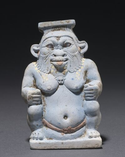 Egypt, Late Period, Dynasties 26, 'Cosmetic Jar in the Form of the God Bes', 664-525 BC