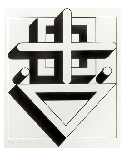 Imre Bak, 'Square-cross-triangle', 1977
