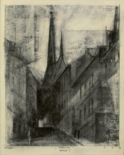 Lyonel Feininger, 'Stadtkirche, Weimar I', 1929
