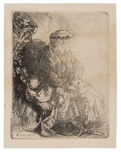 Rembrandt van Rijn, 'Abraham Caressing Isaac', circa 1637