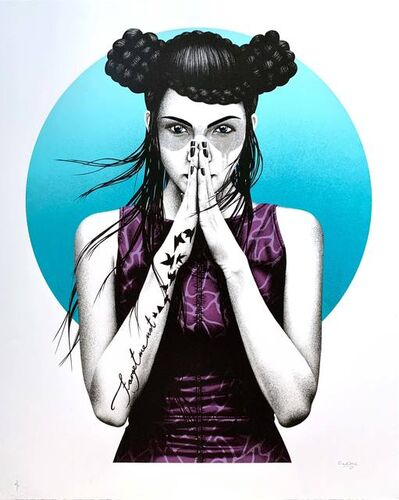 Fin Dac, 'Vergiss (White Gold mask)', 2017
