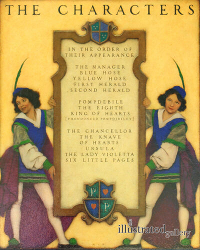 Maxfield Parrish, 'The Knave of Hearts: List of Characters', 1923