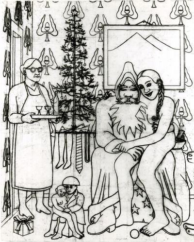 """Konrad Klapheck, 'Drawing for """"Noël à la maison""""', 1999"""