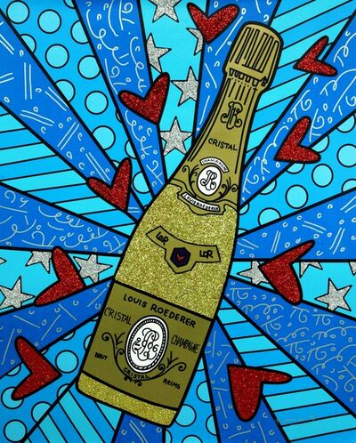 Romero Britto, 'Champagne Wishes & Caviar Dreams - Blue Ed No.25', 2018