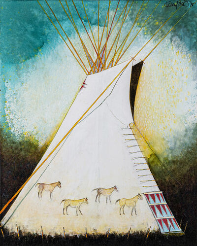Kevin Red Star, 'Horse Tipi-Crow Indian', 2019