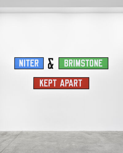 Lawrence Weiner, 'NITER & BRIMSTONE KEPT APART', 1992