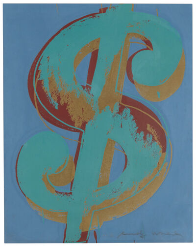 Andy Warhol, '$ (1): one plate', 1982