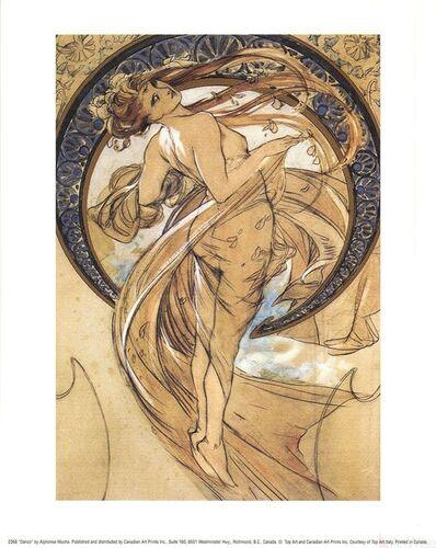 Alphonse Mucha, 'Dance', 1990-2010