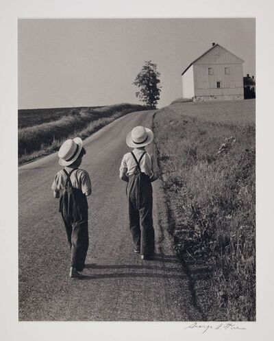 George Tice, 'Two Amish Boys, Lancaster, PA', 1962