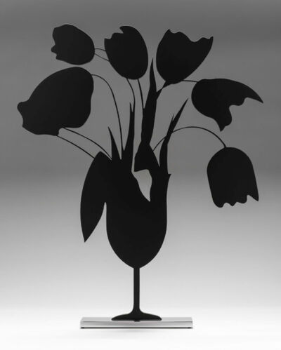 Donald Sultan, 'Black Tulips and Vase, April 5', 2014