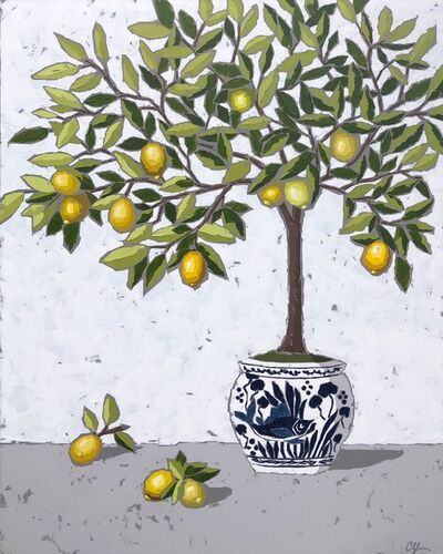 Christie Younger, 'Lemons in Chinoiserie II', 2019