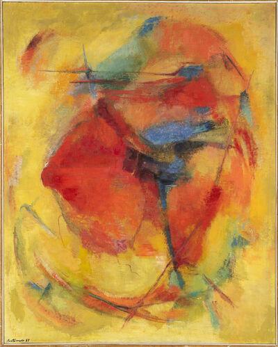 Giuseppe Santomaso, 'Gialli e rossi della mietitura', 1957