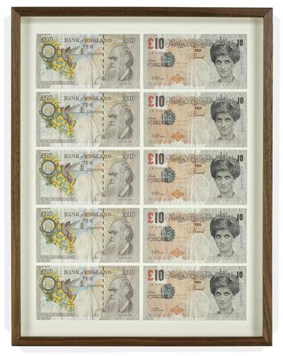 """Banksy, 'Ten framed """"Di-Faced"""" Notes', 2004"""