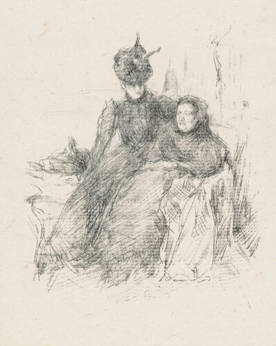 James Abbott McNeill Whistler, 'MOTHER AND DAUGHTER [LA MÈRE MALADE]', 1897