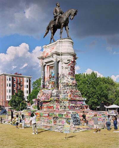 Mitch Epstein, 'Robert E. Lee Memorial / Marcus-David Peters Circle, Richmond, Virginia,', 2020