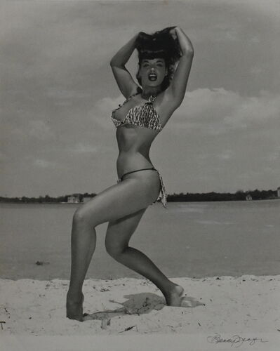 Bunny Yeager, 'Bettie Page 'Two-Peace Leopard Print Suit'', 1954