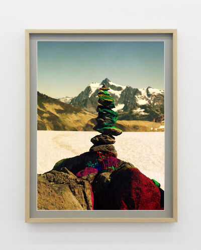 Peter Funch, 'Variation of Cairn on Ptarmigan Ridge with Mt. Shuksan in Background (B)', 2014