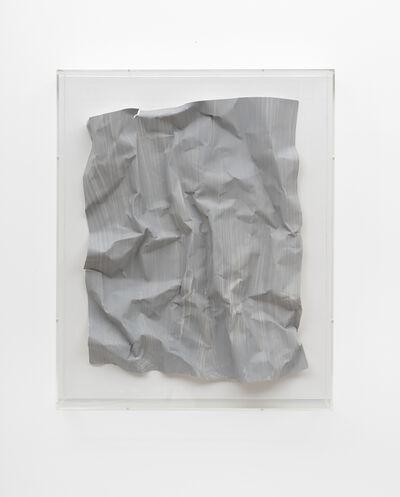 Özcan Kaplan, 'Papierarbeit (kiesgrau) #3, April 2018'
