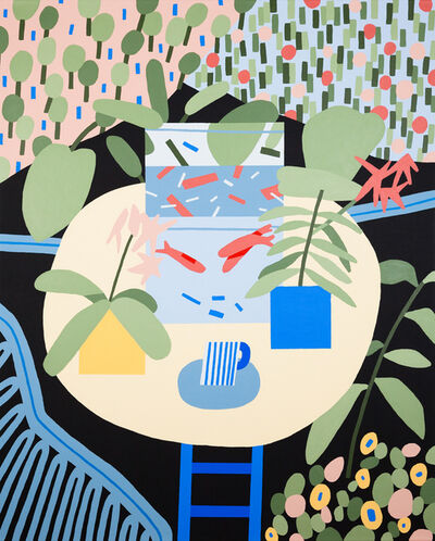 Karl-Joel Larsson, 'Untitled Plant Painting (I wanted a Matisse, so I painted one)', 2014