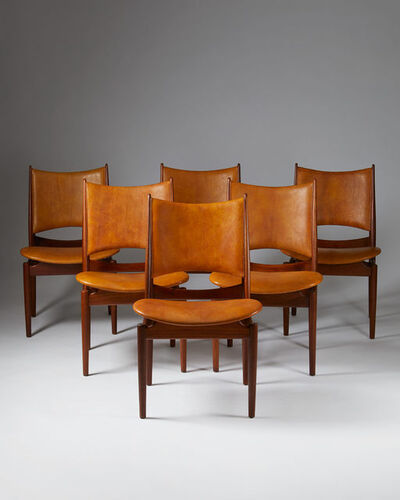 "Finn Juhl, 'Set of six dining chairs, ""Egyptian""', 1949"