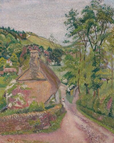 Lucien Pissarro, 'Blackpool Cottage, June', 1921