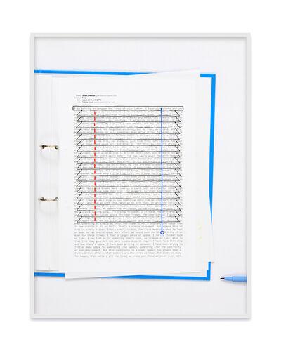 Natalie Czech, 'A negative calligramme by Julien Bismuth (Jalousie)', 2018