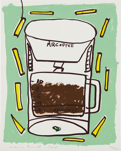 Katherine Bernhardt, 'Mr. Coffee with Fries', 2015