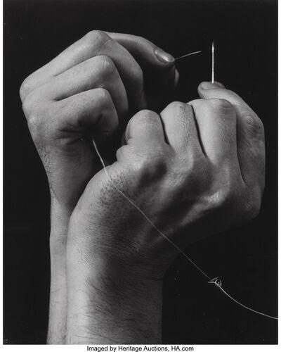 Anton Bruehl, 'Hand Threading Needle', circa 1930