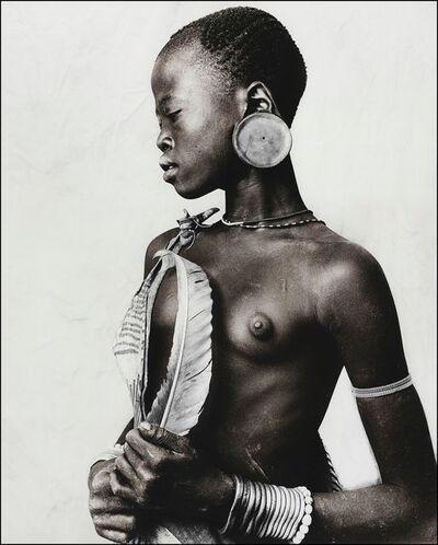 Jan C. Schlegel, 'Bekele (13), Mursi tribe, Ethiopia', 2019