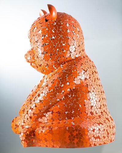 Hiro Ando, 'Big Pandasan FlowerPower orange'