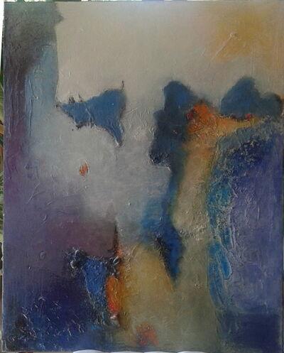 Thérèse Bosc, 'Sunburn on the blue cliff', 2019