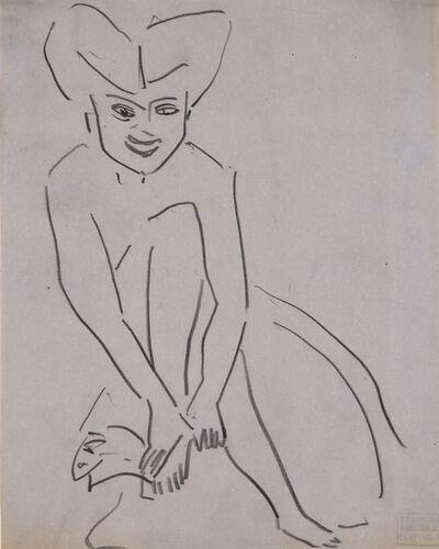 Ernst Ludwig Kirchner, 'Sitzende Fränzi (Sitting Fränzi)', 1910