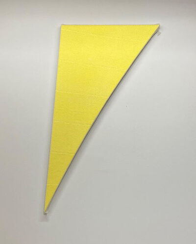 Tammi Campbell, 'Yellow Curve with bubble wrap and packing tape', 2019