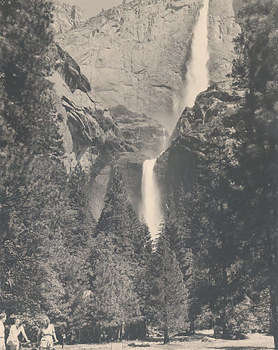 Ansel Adams, 'Upper and Lower Yosemite Falls, Summer', Circa 1939