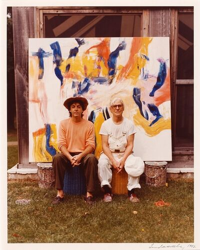 Linda McCartney, 'Paul McCartney and De Kooning', 1982