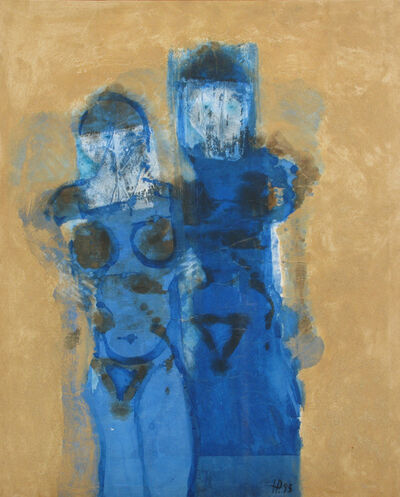 Herman Prigann, 'Paar in Blau', 1993