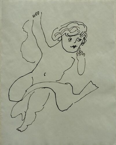 Andy Warhol, 'Untitled (Angel with Scarf)', ca. 1954