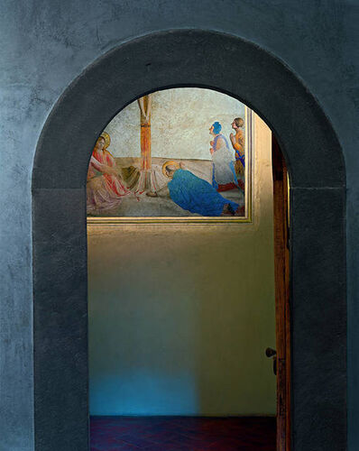 Robert Polidori, 'Crucifixion with Saint Dominic prostrate on the floor, by Fra Angelico, Museum of San Marco Convent, Florence, Italy', 2010