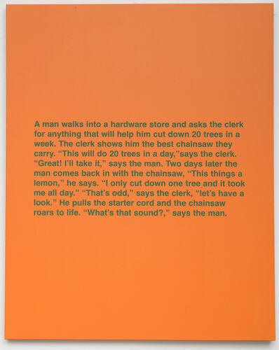 Hugh Brown, 'Untitled (Man walks into a hardware store), ', 1987