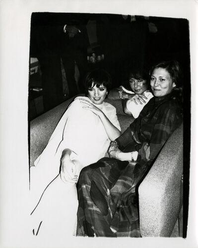 Andy Warhol, 'Andy Warhol, Photograph of Liza Minelli, Elizabeth Taylor & Faye Dunaway, 1985', 1985
