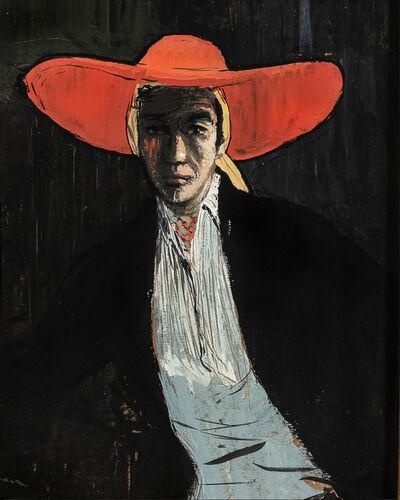 René Gruau, 'Figure in a Wide-brimmed Red Hat', 1955-1980