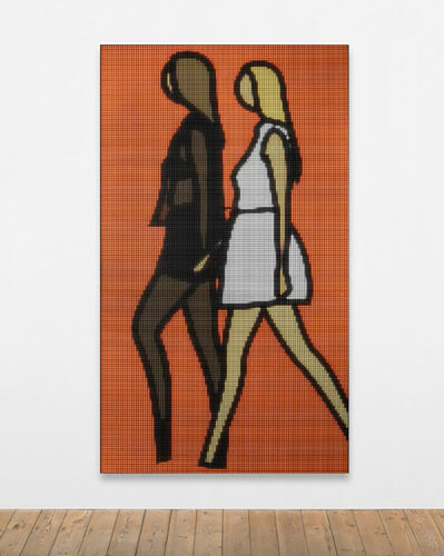 Julian Opie, 'Tina and Harriet walking.', 2020