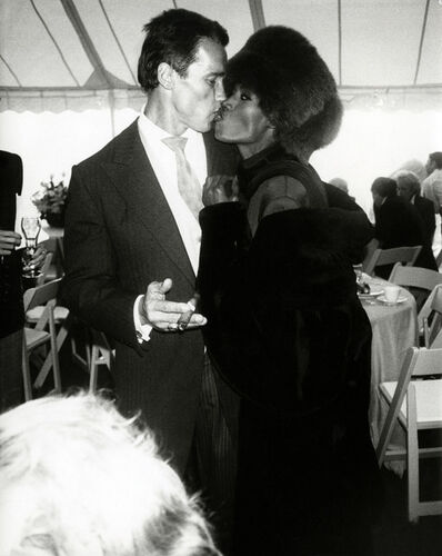 Andy Warhol, 'Arnold Schwarzenegger with Grace Jones at his wedding to Maria Shriver, Hyannis Port, MA, 1986', 1986