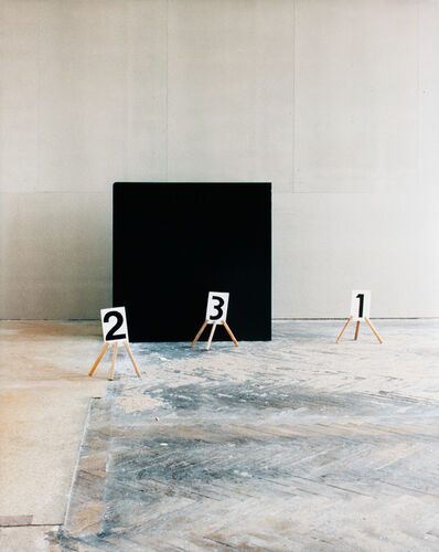 Nadja Bournonville, 'Some Marks, a Square, and a Figure (triptych part 2/3)', 2012
