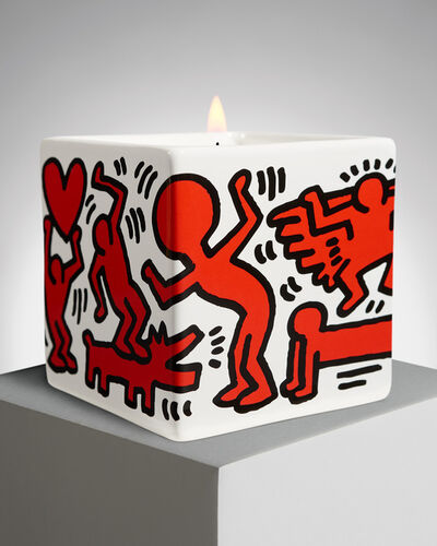 """Keith Haring, 'Perfumed candle """"Red on White""""', ca. 2019"""